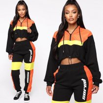 Women's Color Block Tracksuits Sports 5253