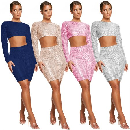 Women 2 Piece Sequin Set 3273