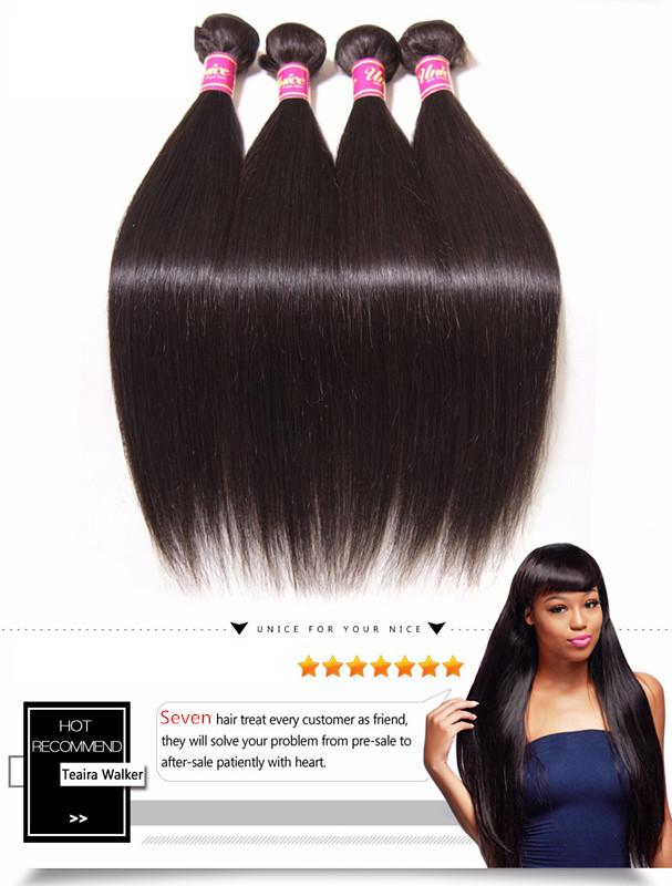 Us 104 9a Seven Hair Peruvian Straight Human Hair 100 4pcs
