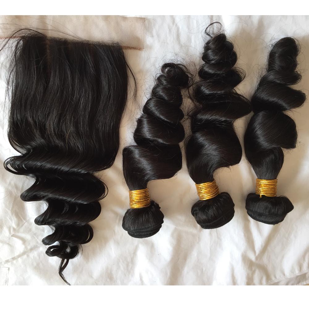 Us 115 9a Malaysian Virgin Hair Weft Loose Wave Curl 34pcs Human
