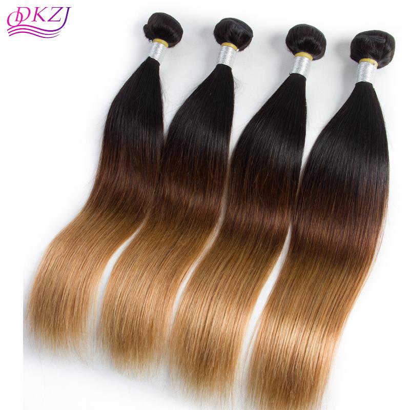 Us 40 Seven Ombre Brazilian Hair Straight 1 Bundle 3 Tone 1b 4 27