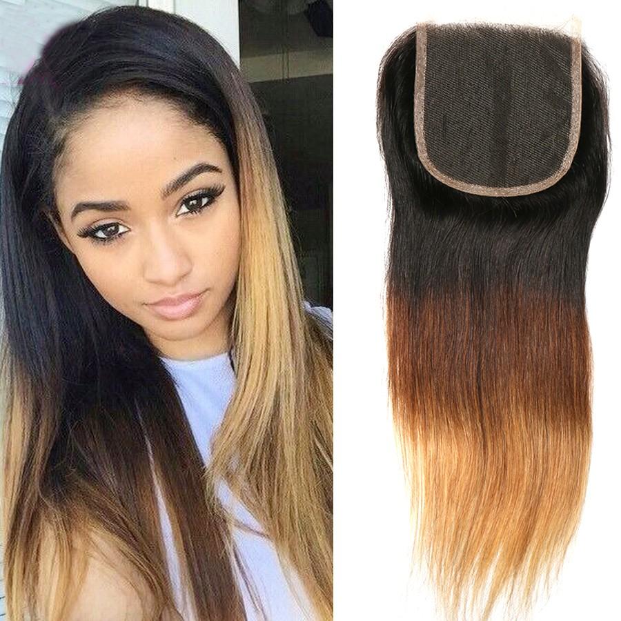 Us 30 Seven Ombre Brazilian Hair Straight 1 Bundle 3 Tone 1b 4 27