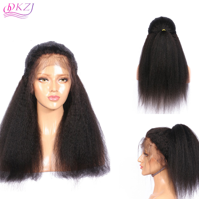 Us 105 9a Lace Frontal Wigs Human Hair Natural Color Kinky