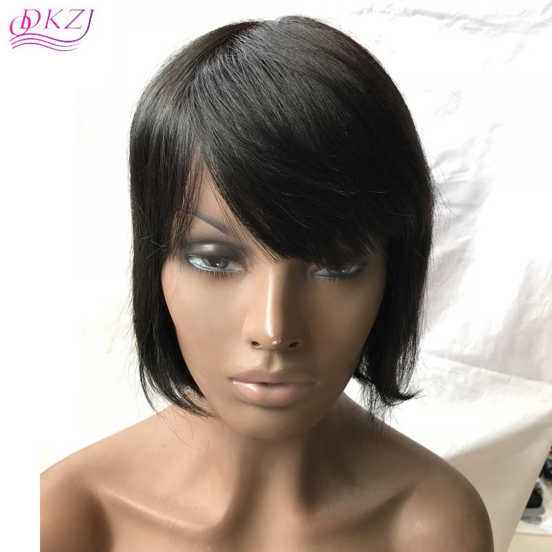 Us 53 Qdkzj Bob Wig Brazilian Straight Short Lace Front Human