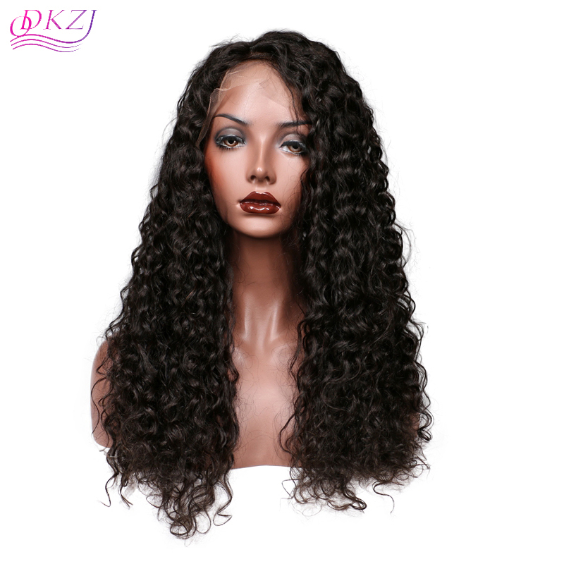 US  109 - QDKZJ Lace Front Human Hair Wigs For Women Brazilian Short Curly  Lace Wig Pre Plucked With Baby Hair Black Color 360 Lace Frontal Wig ... 523618e8b2