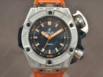 ウブロHublot King Power Oceangraphic 4000m RG/RU Black dial A2824-2自動巻き