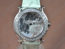 ショパールChopard Happy Sports Animal Kingdom SS/LE Diam White Dial Swissクォーツ