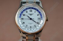 ロンジンLongines Masters Collection TT White Swiss Eta 2824-2自動巻き