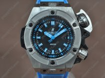 ウブロHublot King Power Oceangraphic 4000m SS/RU Black dial A2824-2自動巻き