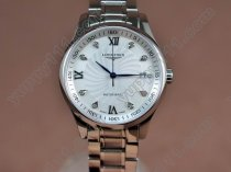 ロンジンLongines Masters Collection SS White Swiss Eta 2824-2自動巻き