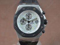 オーデマ·ピゲAudemars Piguet Royal Oak SS/RU White Japan VD76A Sec@12クオーツストップウォッチ