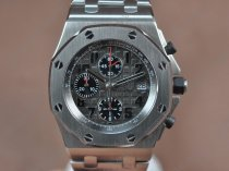 オーデマ·ピゲAudemars Piguet Royal Oak Chronograph SS/SS Grey A-7750 Sec@12自動巻き