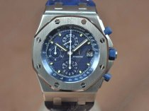 オーデマピゲAudemars Piguet Royal Oak Chrono SS/LE Blue dial A-7750自動巻き