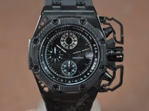 オーデマ·ピゲAudemars Piguet Royal Oak Survivor Ceramic/RU Blk Japan VD76A Sec@12クオーツ