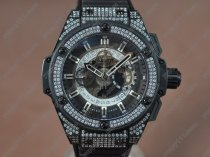 ウブロHublot Big Bang King Power PVD/RU/Diam Skeleton dial A-7750 自動巻き
