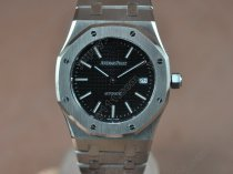 オーデマ·ピゲAudemars Piguet Royal Oak Jumbo 39mm SS/SS Black Swiss Eta 2824-2自動巻き