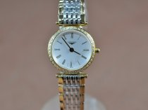 ロンジンLongines Ladies La Grande Classique TT/Diam White Swiss Quartzクオーツ
