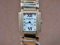 パテックフィリップPatek Philippe Ladies 24 Hours Single Diamonds RG MOP Wht Swiss Quartzクオーツ