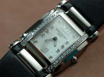 パテックフィリップPatek Philippe Ladies 24 Hours Single Diamonds SS/LEクオーツ