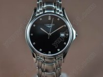 ロンジンLongines SS/SS Black Japanクオーツ