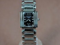 パテックフィリップPatek Philippe Ladies 24 Hours SS Pearl Black Swiss Quaクオーツ腕時計