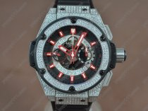 ウブロHublot Big Bang King Power SS/RU/Diam Skeleton dial A-7750 Chrono自動巻き