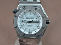 オーデマ·ピゲAudemars Piguet Royal Oak Offshore SS White Swiss Eta 2836-2 Auto自動巻き