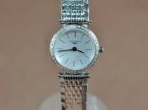 ロンジンLongines Ladies La Grande Classique SS/SS/Diam White Swiss Quartzクオーツ