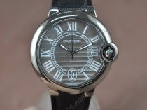 カルティエCartier Ballon Blue de Cartier Ti/Le Dark Grey Swiss Eta 2824-2 Automatic自動巻き