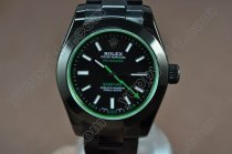 ロレックスRolex Pro Hunter Milguass Blk(Green Sapphire) Asian 2813自動巻き