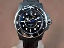 シャネルChanel J12 (Best version) Black Pvd RU/Black Swiss Eta 2824-2自動巻き