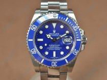 ロレックスRolex Submariner SS Ceramic Bez Blue dial Asia 3135自動巻き