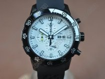 IWC Aquatimer Pvd/Black 0S 20 Working Chronographクオーツストップウォッチ