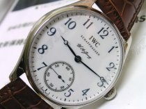 IWC F A Jones SS White/Blue Num手巻き