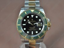 Rolex Watches Submariner TT Green ceramic Black dial A-2836-2 Auto 900