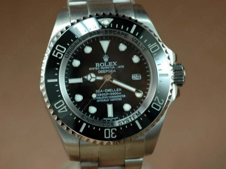 ロレックスRolex Deep Sea Dweller SS Black Asia Eta 2836 自動巻