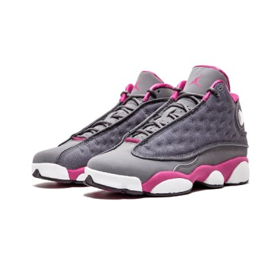 Authentic Air Jordan 13 Retro GS Grey Fusion Pink