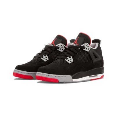 Authentic Air Jordan 4 Retro GS Bred