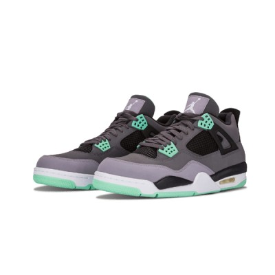 Authentic Air Jordan 4 Retro GS Green Glow