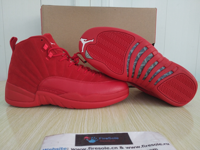 f2c2a8c67a03 Authentic Air Jordan 12 Retro Premium Red Suede