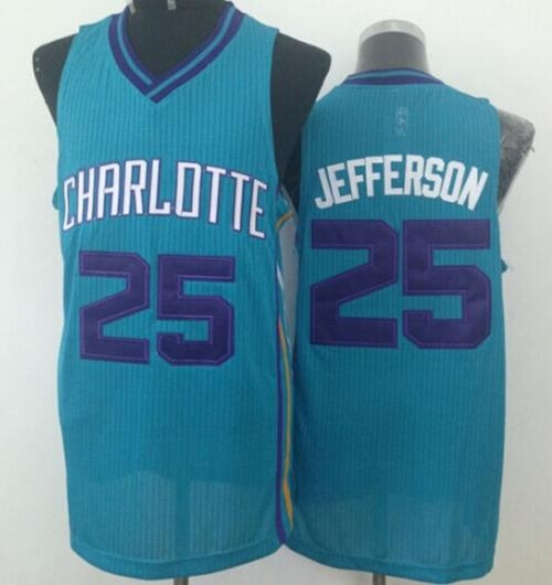 Revolution 30 Charlotte Hornets  25 Al Jefferson Light Blue Stitched NBA  Jersey. Loading zoom 00e44bda3