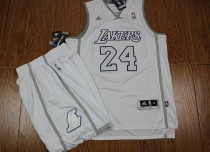 The lakers # 24 kobe fans edition  new fabrics-all white