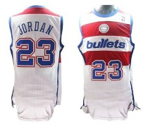 Washington Wizards #23 Michael Jordan White Nike Throwback Stitched NBA Jersey