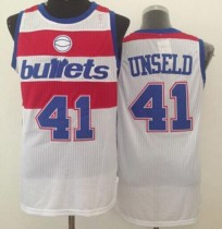 Washington Wizards #41 Wes Unseld White Bullets Throwback Stitched NBA Jersey