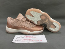 Authentic Air Jordan 11s GS Low Rose Gold