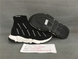 Authentic Balenciaga Speed Runners Black with full logo printed