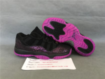 Authentic Air Jordan 11s GS Black/Pink