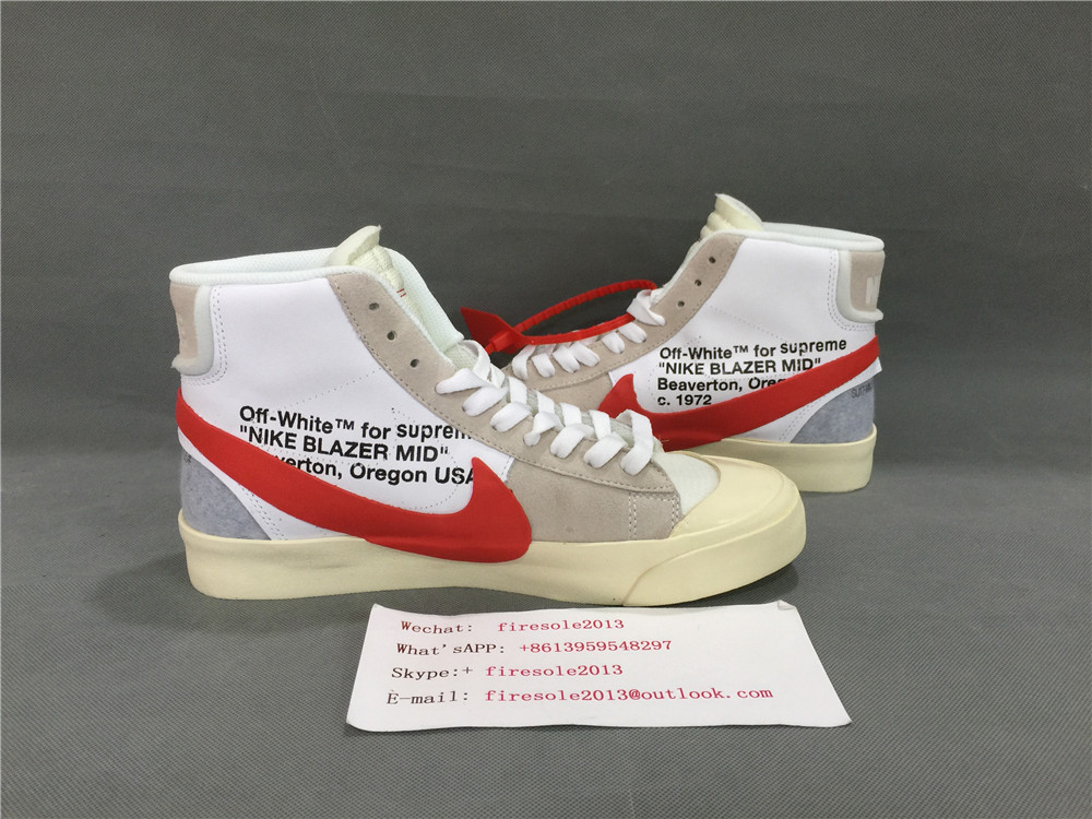 WHITE x Nike Blazer Mid