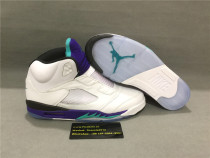 Authentic Air Jordan 5s Grape White 2019