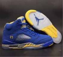 Authentic Air Jordan 5 GS Blue/Yellow